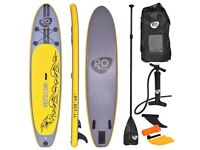 Costway UK Goplus SUP Inflatable Stand Up Paddle Board w/ 3 Fins