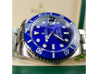Rolex Submariner - Smurf Edition, Oyster Bracelet. New Boxed with Paperwork.