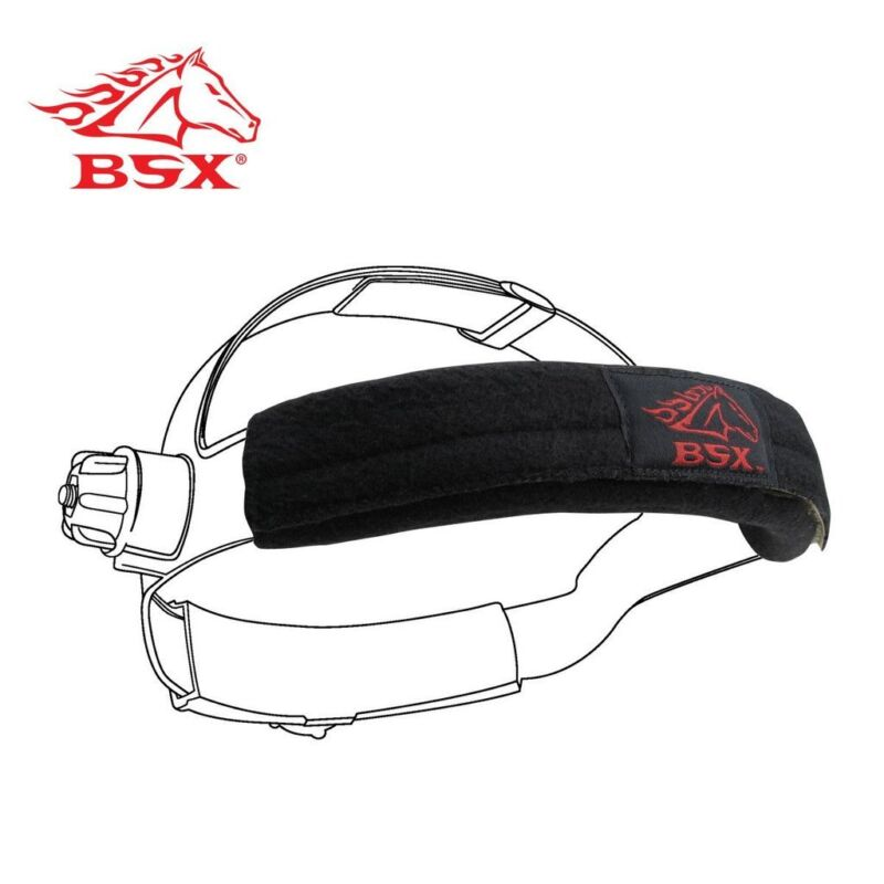 Welding Helmet Sweatbands Bumpers 2 Pack Cushioned BSX Revco BC5SB-BK Hook Loop