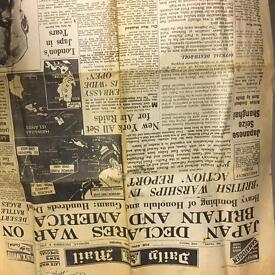 Antique news paper 1941