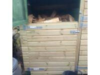 Cubic meter of seasoned oak Firewood