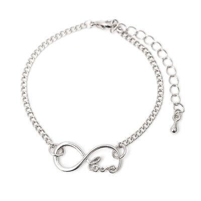 Modeschmuck Armband Infinity Unendlichkeit Liebe Freundschaft Farbe: Silber