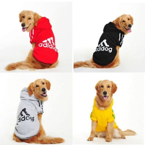 Pet Dog Coat Jacket Fall Winter Clothes Puppy Sweater Hooded Clothing Apparel UK 3