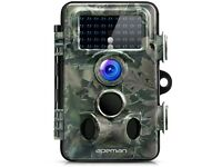Trail Camera 12MP 1080P HD Wildlife Camera with 130° Wide Angle Lens 120° Detection 42 Pcs 940nm