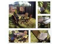 Patio set, garden furniture, table and chairs