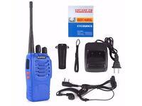 2x baofeng walkie talkies.great xmas presents