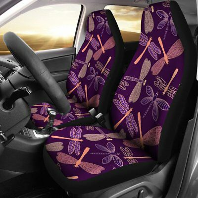 Best Dragonfly Car Seat Covers, Dragonfly Lover Gift, Set of 2 Front Seat