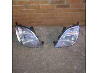 Ford Fiesta headlights.