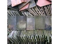 Secondhand concrete roof tiles