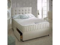 DOUBLE LUXURY DIVAN BED & MEMORY FOAM MATTRESS - ONLY 199 ** DELIVERED FAST