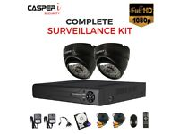 4CH 1080p DVR 2MP HD EYEBALL 4 in 1 Dome Camera IR 25m wide range Monitoring with 1TB HDD