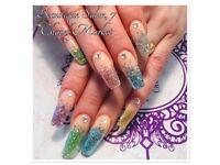 Nails, nail extensions, pedicure, manicure, acrylic, shellac, gellish, nail art