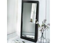 Black Full Length Mirror BRAND NEW Long Wall Mounted Bathroom Bedroom Hallway Living Room