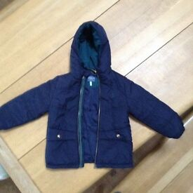 Boys Age 3 Joules Navy padded Jacket VGC