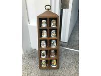 10 Thimbles with hanging box