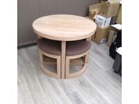 Intergrated circular dinning table