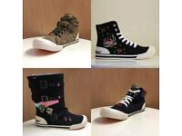 Clearance Was £50 Now Only £15, Rocket Dog High Top Trainers Size 4-8 UK