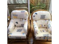 2 x Cane conservatory chairs £50 ono