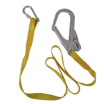 22kn Safety Harness Fall Arrest Lanyard Strap Hook Carabiner Rock Climbing