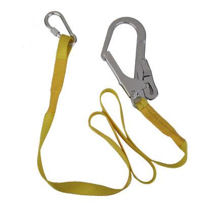 22kn Safety Harness Fall Arrest Lanyard Strap Hook Carabiner Rock Climbing