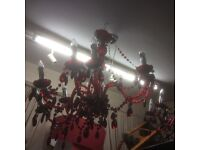 Big red chandelier