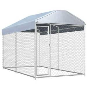 Outdoor Dog Kennel with Canopy Top 382x192x225 cm F9FP2-145024