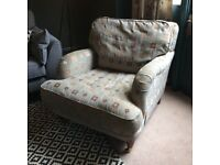 Duck egg blue armchair
