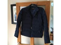 Jaeger men's blue padded jacket size small