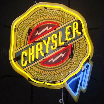 Chrysler Badge Neon Sign With Backing 5CRYBK w/ FREE Shipping