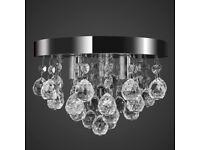 Pendant Ceiling Lamp Crystal Design Chandelier Chrome-240688