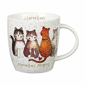 Alex Clark Fine China Squash Mug - Cat -Marvellous Moggies - Full Range in Stock