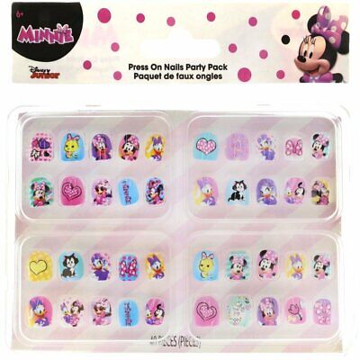 Disney Minnie Mouse Press on 40-Nails Play ~Birthday Party Favors Christmas Gift ()