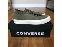 Ladies khaki green scalloped suede Chuck Taylor Converse low tops UK 4 excellent condition
