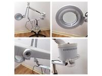 Professional 2 in 1 steamer and magnifying lamp