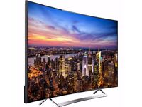 "HISENSE 65"" CURVED TV HE65SKEC710UCWTS Smart LED 4K Ultra HD Freeview HD TV"