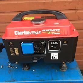 Petrol generator Clarke 1100w