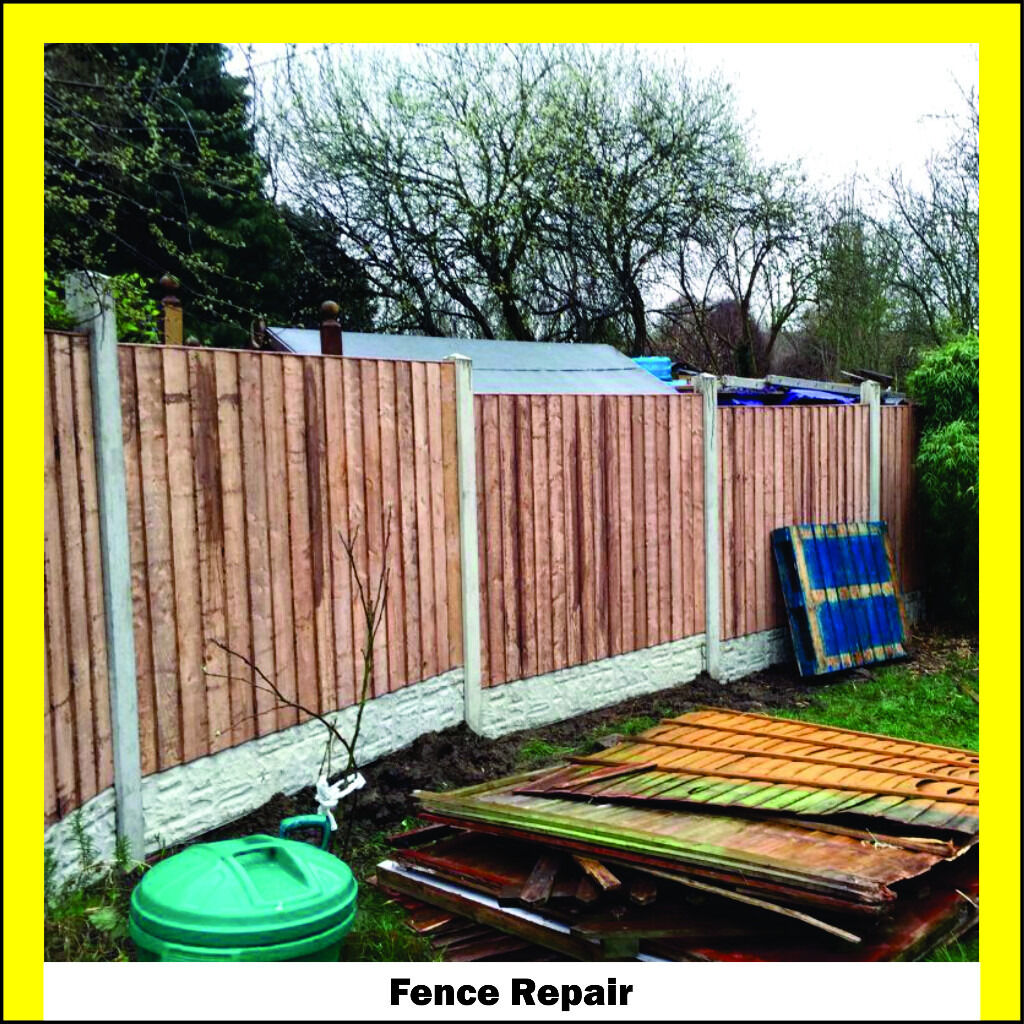 Fence Repair Fencing New Fence Wood Garden Sheds Storage ...