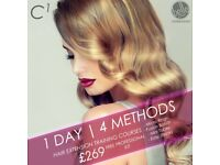 HAIR EXTENSION COURSES. SOUTHAMPTON. ALL INCLUSIVE OF TRAINING, CERTIFICATION & KIT - SALE NOW ON.