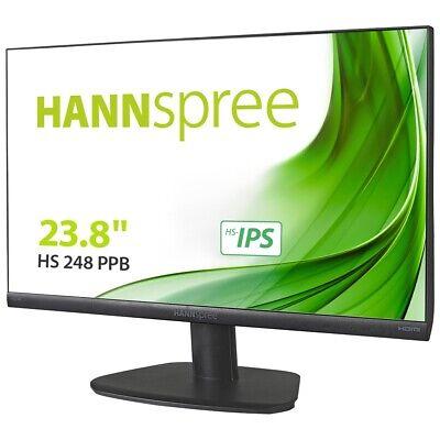 Hannspree HS248PPB LED Monitor 60,5 cm (23.8 Zoll) FullHD Flach VGA/HDMI/DP