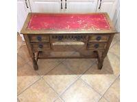old charm furniture five draw oak desk