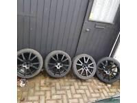 Octavia vrs spyder alloy wheels 5x100