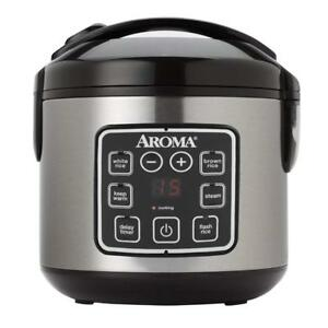NEW Aroma ARC-914SBD 8-Cup (Cooked) Digital Rice Cooker and Food Steamer