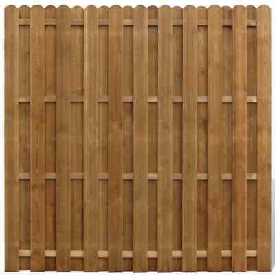 vidaXL Hit & Miss Fence Panel Wood Vertical Garden Patio Border Palisade