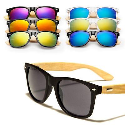 Bamboo Sunglasses Wood Wooden Mens Womens Summer Glasses Retro Vintage Vogue