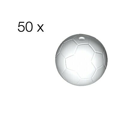 Soccer Ball Pattern Round 2 x 2 Large with Pin LEGO 6 NEW White Clikits Icon