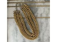 Chunky layered gold necklace Topshop