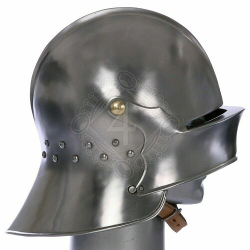 18 gauge Steel Medieval Knight Variant of a German Sallet Helmet Halloween Gift