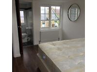 SHORT OR LONG TERM LARGE DOUBLE ROOM WITH ENSUITE BATHROOM IN LOFT, 4 MIN WALK TOTTENHAM HALE TUBE