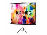 Duronic - High quality white screen - 197 x 20 x 13 cm
