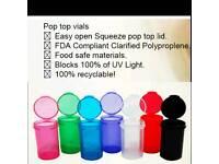 20x 13dram + 20x 19dram multi-colour mix squeeze pop top medical/ pill tube tub vial